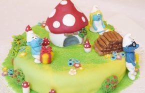 Smurfs | Fantasy cakes | Café Boulevard in Tallinn
