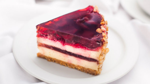 Cherry-mascarpone cake | Cafe Boulevard in Tallinn