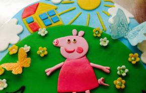 Свинка Пеппа | Фантазийные торты | Café Boulevard в Таллинне